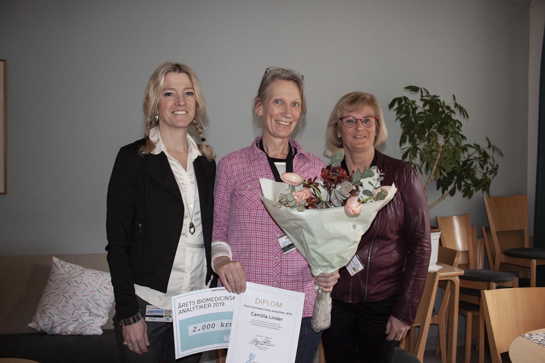 Camilla Linder, Lisa Wiklund och Helena Bergqvist